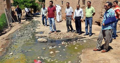 Lağım suları köylüleri hasta etti