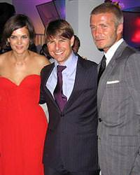 Tom Cruise David Beckham yatakta bast� Katie Holmes