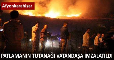 Patlamanın tutanağı vatandaşa imzalatıldı