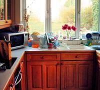 Modern hayatta k���k ve kullan��l� mutfaklar