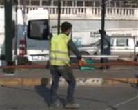 Taksim'deki otob�s duraklar� kald�r�ld�
