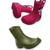 Crocs yağmur botları ile ışıldayın