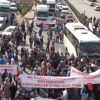 Ümraniye'de 2B protestosu