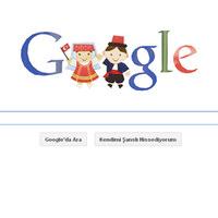23 Nisan Ulusal Egemenlik ve �ocuk Bayram� doodle google 23 nisan