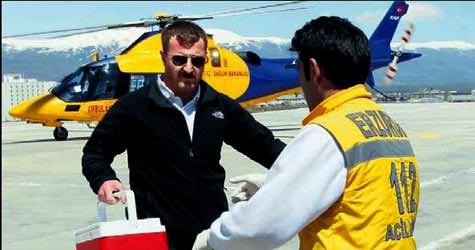 3 helikopter Çigdeme can yetiştirdi