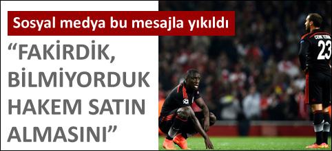 Beşiktaş elendi ama sosyal medyan destek yağdı