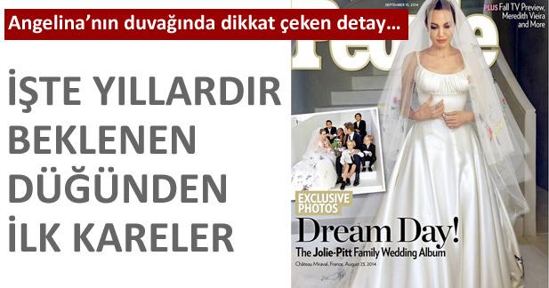 Angelina Jolie ve Brad Pitt düğününden kareler