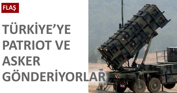 İspanya Türkiye'ye patriot füze bataryası gönderecek