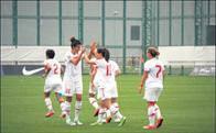 Milli Kadın Futbol Takımımız galibiyetle veda etti: 3-0