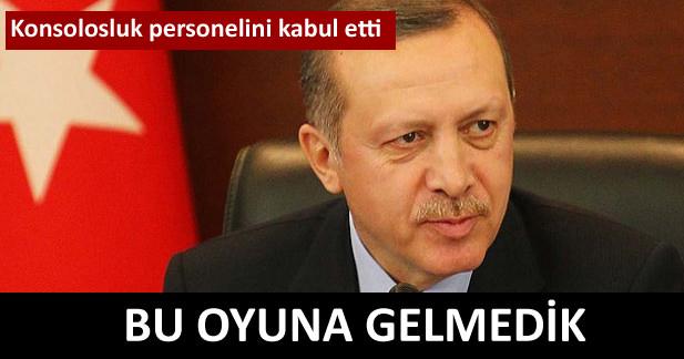 Erdoğan: Bu bir özgürlüğe hürriyete kavuşmaydı