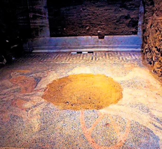 Yunanistan'da dev mozaik heyecanı