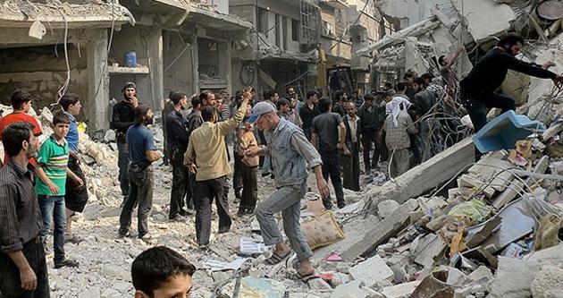 Humus'a varil bombalı saldırı