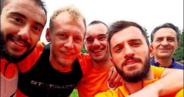 Florya'da derbi selfie'si