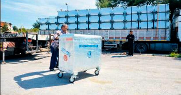 İlçe belediyelere 7 bin konteyner
