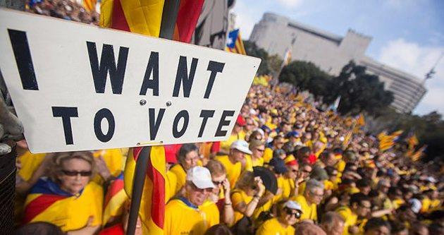 Bağımsızlık yanlısı Katalanlar gösteri düzenledi