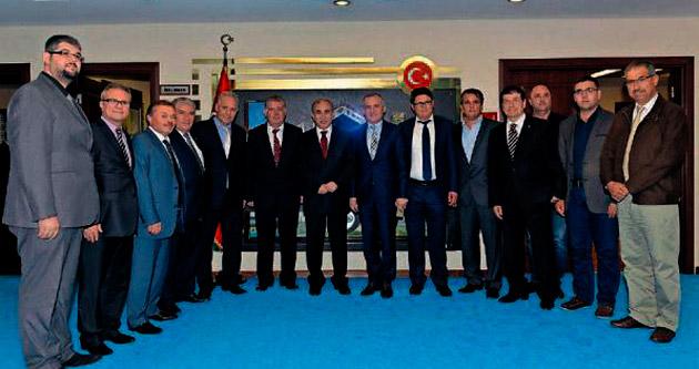 Balkan Türkleri'nden Vali Büyük'e ziyaret