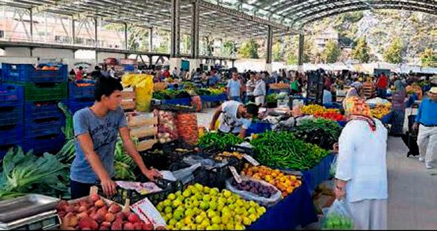 Finike'ye yeni pazar yeri oluşturuldu