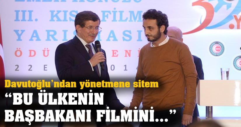Davutoğlu'ndan ödüllü yönetmene sitem