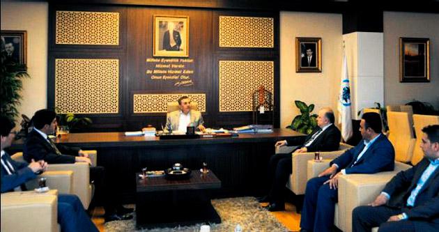 Başkan Özdem, Çetin'i ziyaret etti
