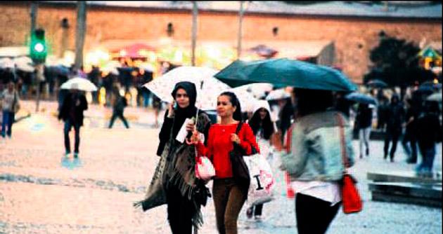 İstanbul'da sağanak ve fırtına alarmı
