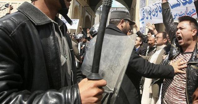 Kabil'de gazeteye protesto
