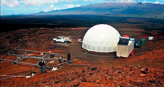 Mars'taki astronot evi Hawaii'de canlandırıldı