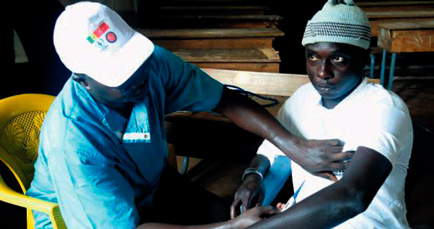 TİKA'dan Afrika'da ebola taraması