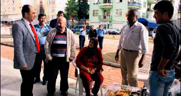 Başkan Sarıoğlu pazar denetledi