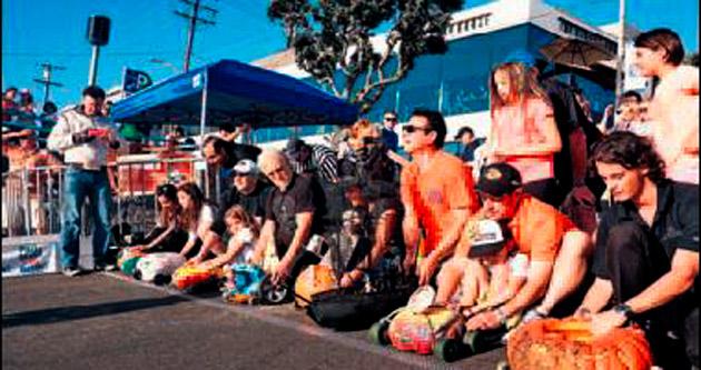 ABD'de tekerlekli balkabağı yarışı