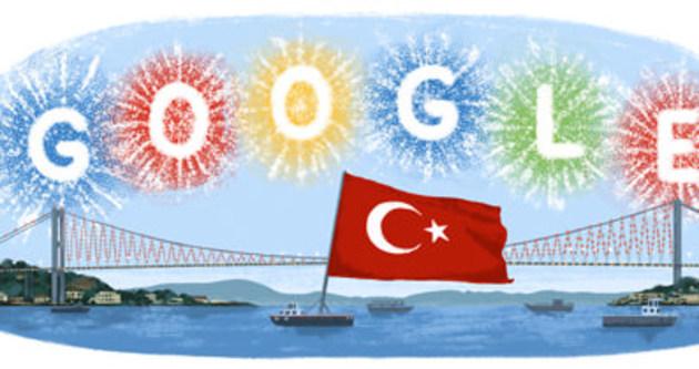 Cumhuriyet Bayramı doodle oldu