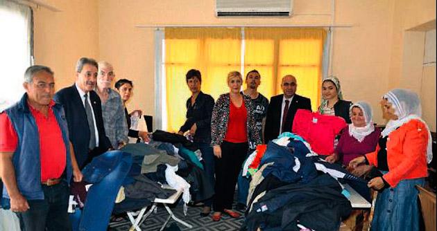 Tsd üyelerine yapılan kıyafet yardımı sevindirdi