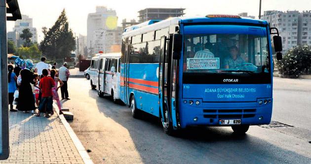 Özel halk otobüsleri ücrette indirim yaptı