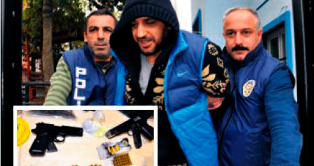 Uyuşturucu baronu kamyonetle yakalandı