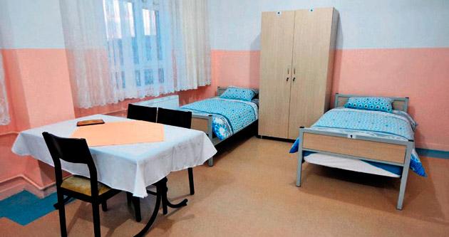 Hasta ve yakınlarına otel konforunda hizmet