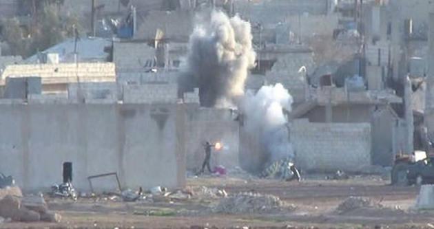 Kobani'de çatışmalar ilk kez bu kadar net görüntülendi!