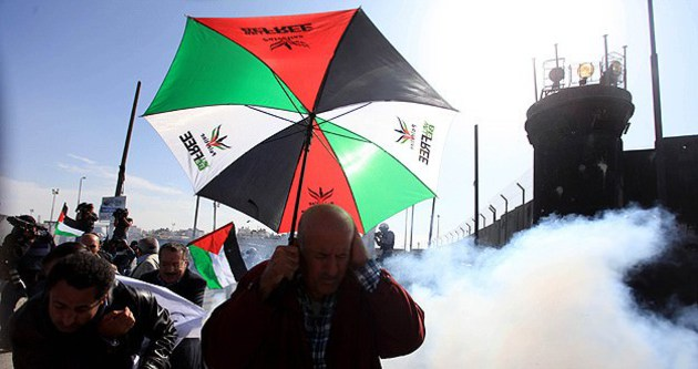 İsrail askerleri Filistinli göstericilere müdahale etti