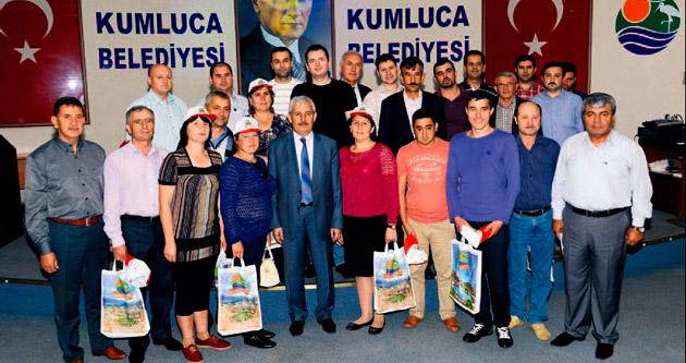 Moldovalı çiftçiler Kumluca'yı ziyaret etti