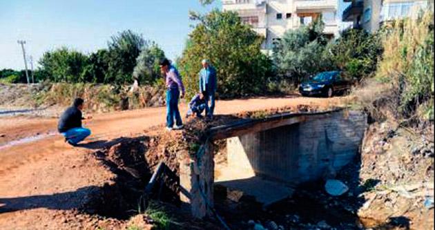 Baymak deresine köprü yapılıyor