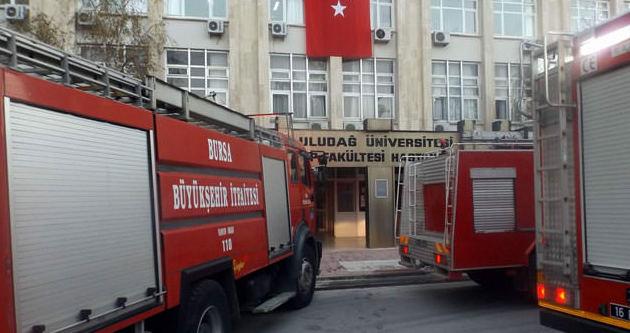 Uludağ Üniversitesi'nde yangın paniği