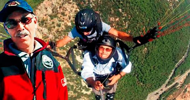 Sakartepe'de bir paraşüt sevdalısına veda