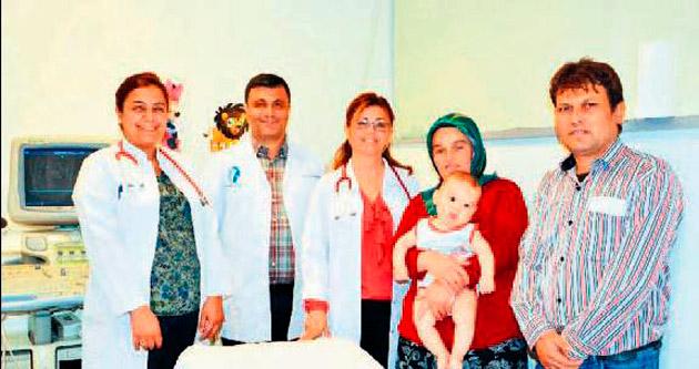 5 aylık bebeğe anjiyo yapıldı