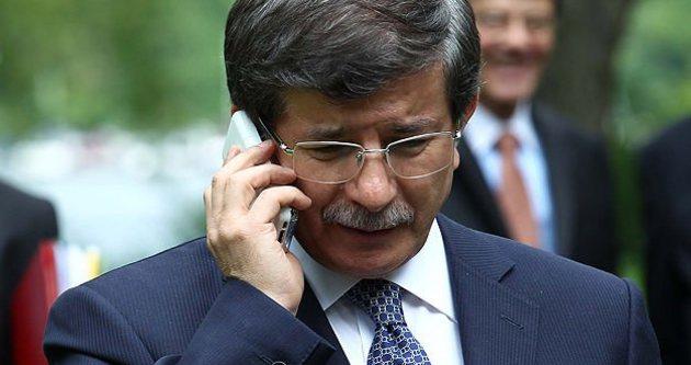 Başbakan Ahmet Davutoğlu'ndan Kudüs telefonu