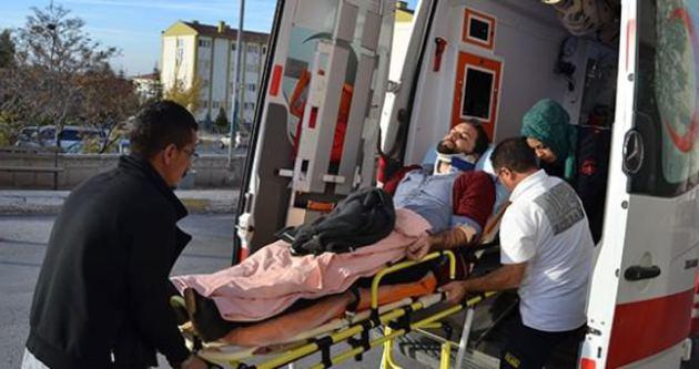 Aksaray'da minibüs takla attı: 11 yaralı
