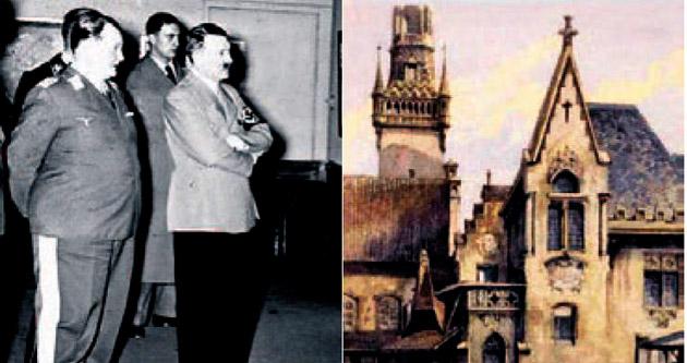 Hitler'in yağlıboya resmi açık artırmada