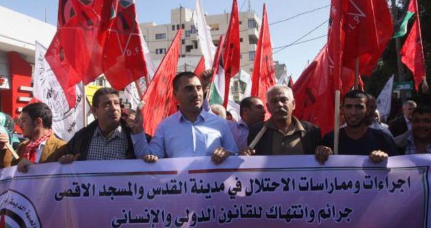 Gazze'de Mescid-i Aksa protestosu