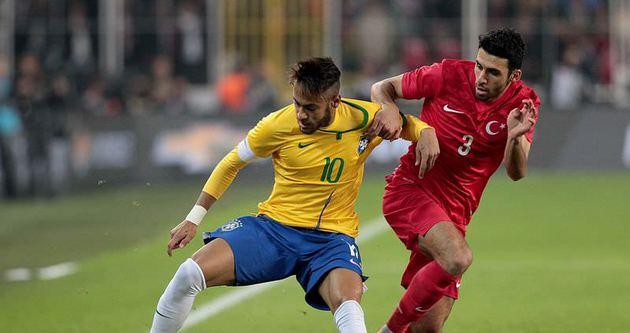 Brezilya dostluk maçında Türkiye'ye acımadı