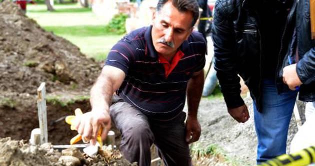 Kazı yapılan parkta insan kemikleri bulundu