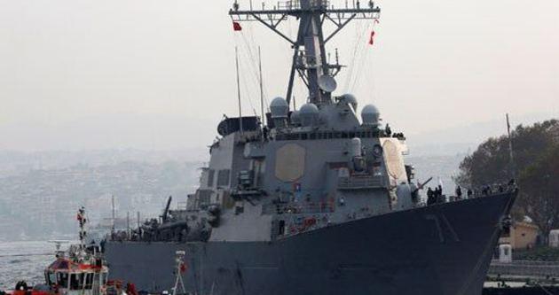 ABD savaş gemisi USS Ross Türk bayrağı açtı