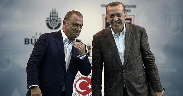 Cumhurbaşkanı Erdoğan, Fatih Terim'e sahip çıktı