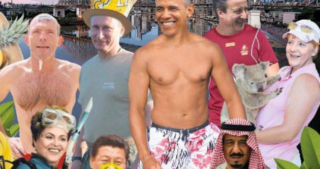Avusturya gazetesi G-20 liderlerini tatilci yaptı